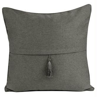 Coussin thro barbados gris foncé 50x50 cm