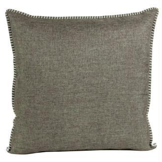 Coussin thro charleston gris foncé 50x50 cm
