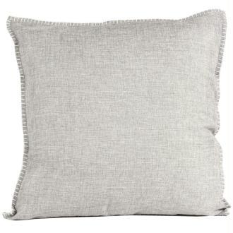 Coussin thro charleston gris clair 50x50 cm