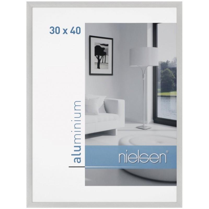 cadre alu 21x29 7 argent poli nielsen c2 support image. Black Bedroom Furniture Sets. Home Design Ideas