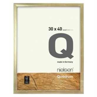 Cadre bois 30x30 or nielsen quadrum