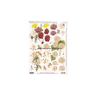 Carte 3D prédéc. - A4 - 82109 - bouquet rouge/jaune/blanc