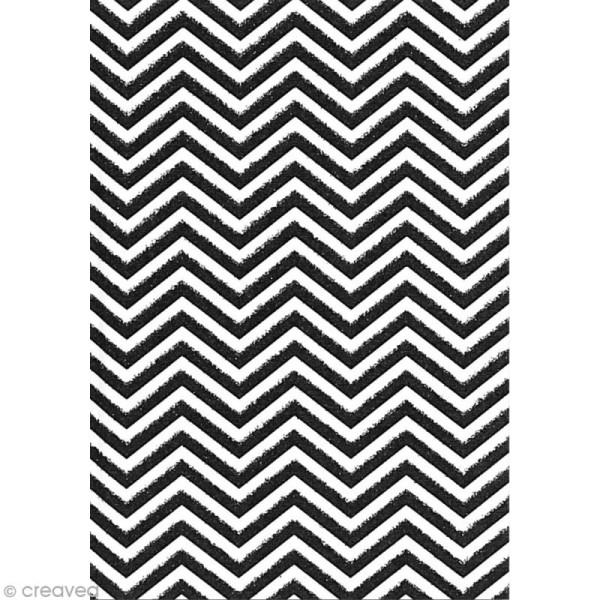 Carnet de notes 10 x 7 cm - Chevrons blancs et noirs glitter - 120 pages - Photo n°2