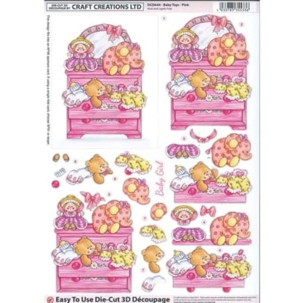Carte 3D prédéc. A4 - DCD 644 - Jouets fille - Photo n°1