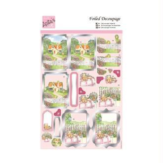 Carte 3D prédéc. - A4 169780 - cottage au printemps
