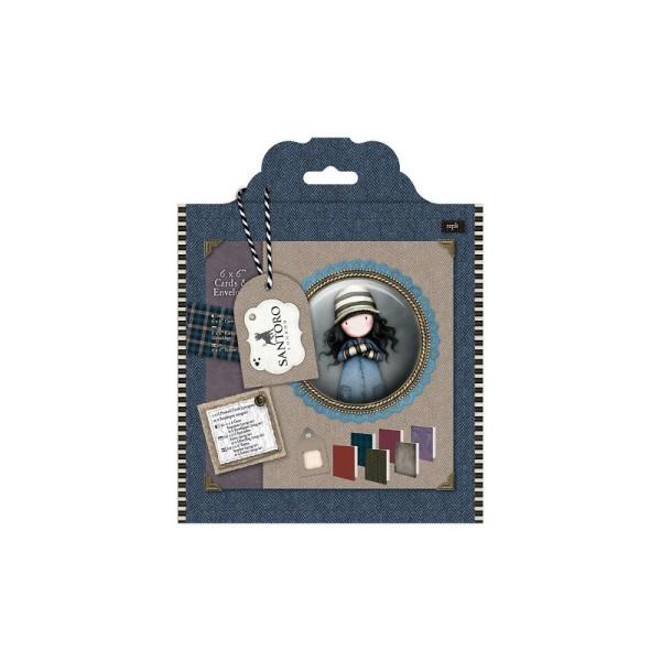 Cartes et Enveloppe (12pcs ) 15,2 x 15,2cm - gorjuss™ - Photo n°1