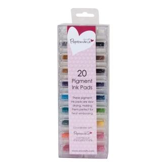Assortiment mini-encreurs à pigment 20p