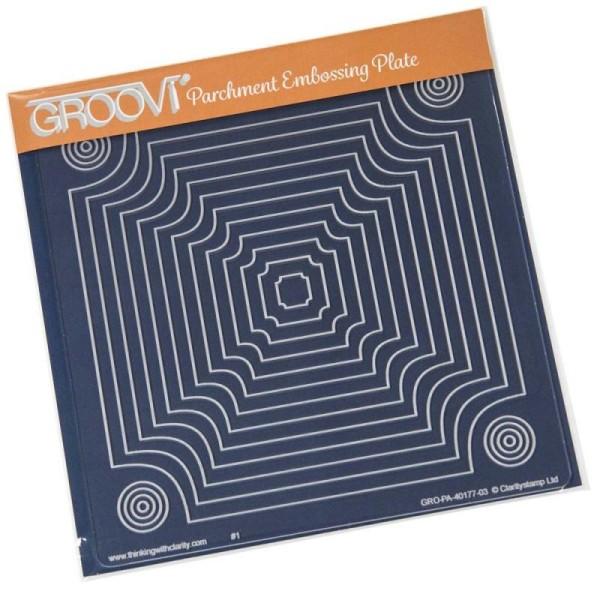 Pochoir d'embossage groovi panel boxes - Photo n°1