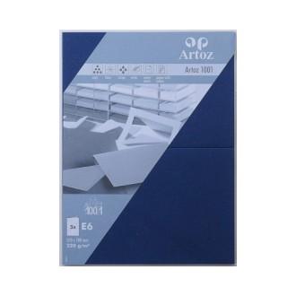 Carte double E6 250x180 220g paquet de 5 - bleu classc