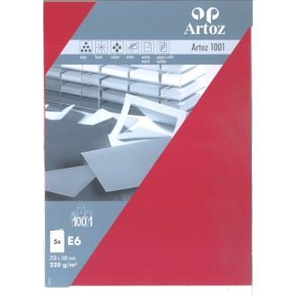 Carte double E6 250x180 paquet de 5 - rouge