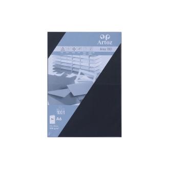 Carte double a6 210x148 paquet de 5 - noir