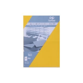Carte double a6 210x148 paquet de 5 - jaune soleil