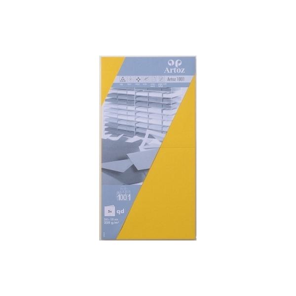 Carte carrée 260x130 220g paquet de 5 solell - Photo n°1