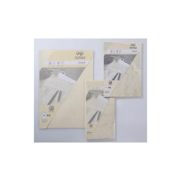Carte double E6 250x180 220g paquet de 5 - antica-chamois - Photo n°1