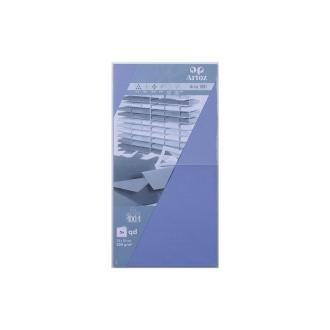 Carte 310x155 220g paquet de 5 bleu violet