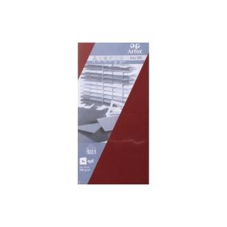 Carte 310x155 220g paquet de 5 - bordeaux