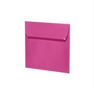 Enveloppe carrée 160x160 paquet de 5 fuchsia