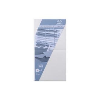 Carte 310x155 220g paquet de 5 blanc