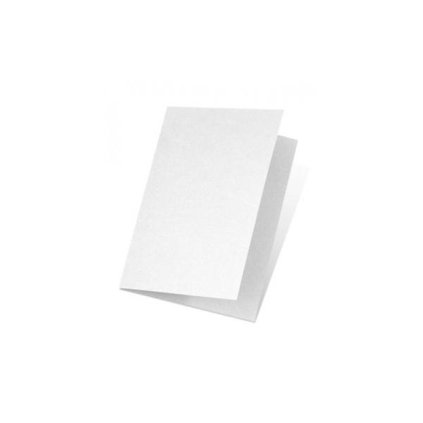 Carte double E6 250x180 220g paquet de 5 - blanc fleur - Photo n°2