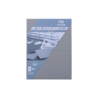Carte double E6 250x180 220g paquet de 5 - graphite