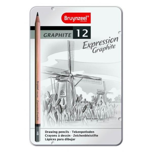 Bruynzeel expression graphite 12 crayons - Photo n°1
