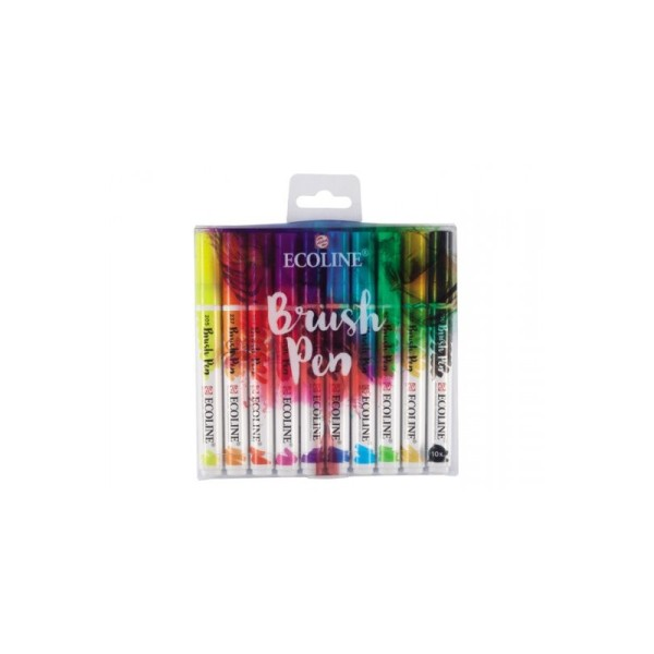 Set de 10 brush pen ecoline - Photo n°2