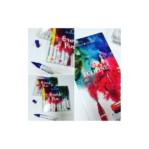 Set de 10 brush pen ecoline - Photo n°1