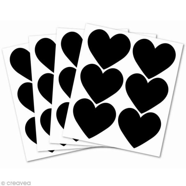 Stickers ardoise - Petits coeurs x 24 - Photo n°2