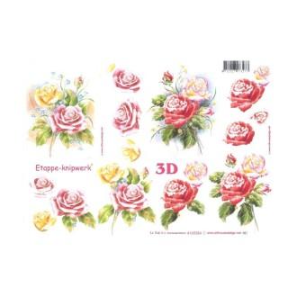 Carte 3D à découper - roses