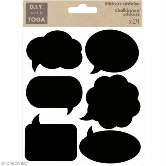Stickers ardoise - Bulles de BD x 24