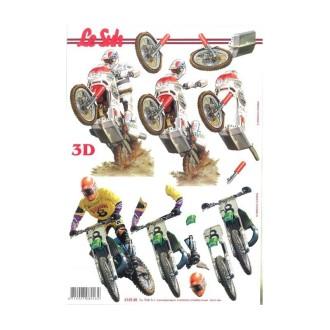 Carte 3d à découper - motos