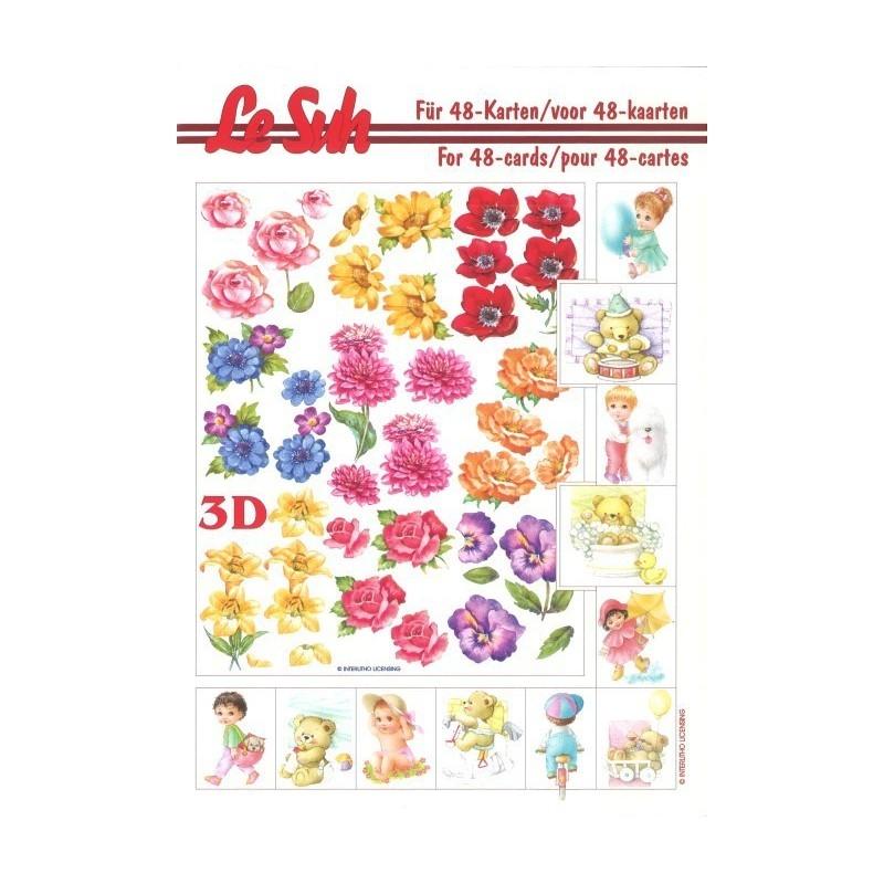 Carte 3d livret a5 d couper 48 cartes fleurs et for Livret des fleurs