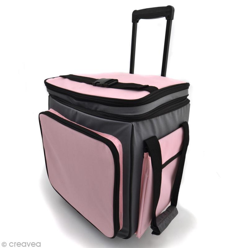 valise de rangement roulettes toga sac scrapbooking creavea. Black Bedroom Furniture Sets. Home Design Ideas