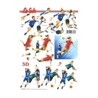 Carte 3D à découper - handball