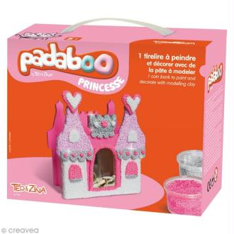 Kit de pâte à modeler Padaboo - Tirelire château de princesse