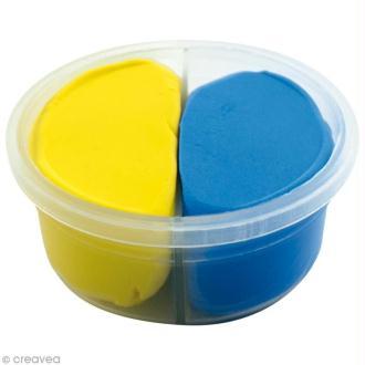 Pâte à modeler Padaboo - Douce - Jaune et bleu - 40 g
