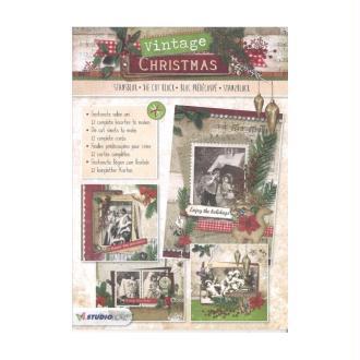 Bloc 12 feuilles A4 carte 3D prédec. 180g vintage christmas