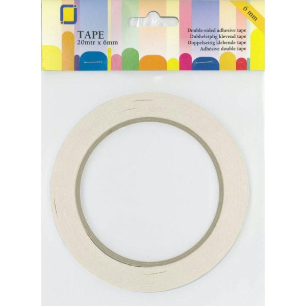 Adhesif double face 20m x 6mm - Photo n°1