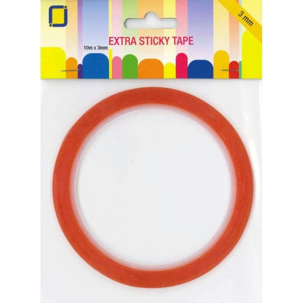 Adhesif double face 10m x 3mm extra fort - Photo n°1