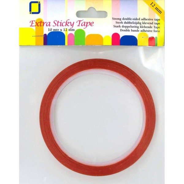 Adhesif double face 10m x 12 mm extra fort - Photo n°1