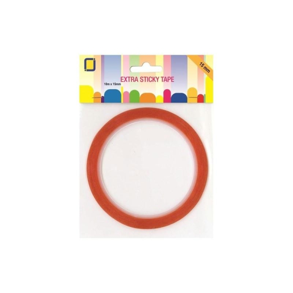 Adhesif double face 10m x 15 mm extra fort - Photo n°1