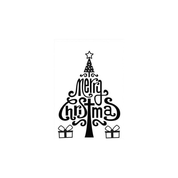 Classeur d'embossage sapin merry christmas 10,6x15 cm - Photo n°1