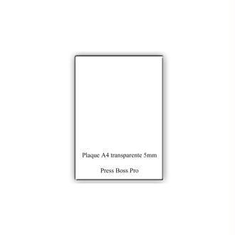 Plaque transparente a4 pour machine press boss pro