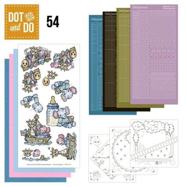 Dot and do 054 - kit Carte 3D - baby - Photo n°1
