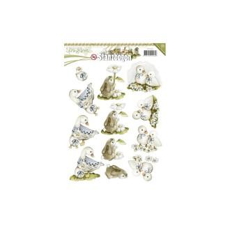 Carte 3D prédéc. - precious marieke lapins et canetons