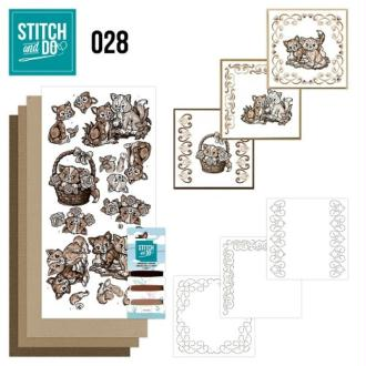 Stitch and do 28 carte 3d broderie - chatons