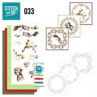 Stitch and do 33 carte 3d broderie - roses