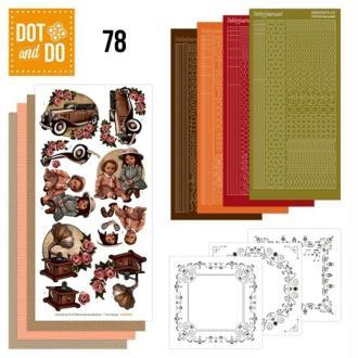 Dot and do 078 - kit carte 3d - vintage