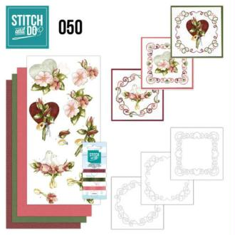Stitch and do 50 carte 3d broderie - mariage