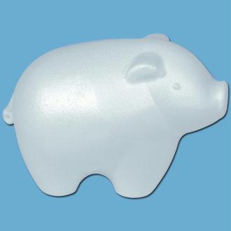 Cochon en polystyrène 15.5 cm